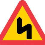 Varning för flera farliga kurvor