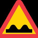 Varning för ojämn väg