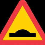 Varning för farthinder