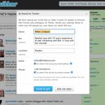 Går det att hitta dig på Twitter?