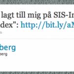 Twitter-portalen på SIS-index
