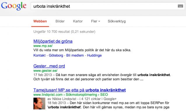 urbota inskränkthet - serp 2013-02-17