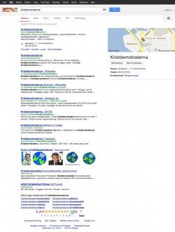 Google-resultat för kristdemokraterna.se 2013-02-04