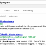 Moderaterna i Google-resultatet