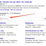 Sök på Mathem – direkt från Google-resultatet
